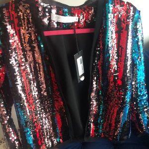 Jackets & Blazers - Hunter Bell Multicolor Sequin Jacket 6!